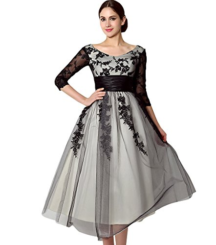 Belle House 3/4 Long Sleeves Mother of the Bride Dress Evening Gown