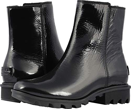 Sorel Women's Phoenix Zip Booties, Black, 7 Medium US