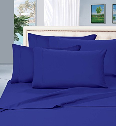 Elegant Comfort Luxurious Pillowcases on Amazon 1500 Thread Count Wrinkle,Fade and Stain Resistant 2-Piece Pillowcases- Hypoallergenic, Standard Size - Royal Blue