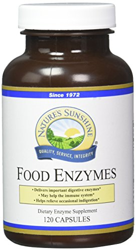 - Nature's Sunshine Food Enzymes, 120 Capsules | Digestive Enzymes with Betaine HCL Support the Digestive System and Provide Occasional Indigestion Relief