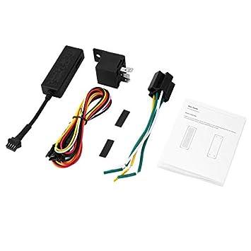 Dispositivo GPS del Coche del vehículo Tracker GPS localizador gsm GPRS Seguimiento en Tiempo Real antirrobo Protege privacidad con Cable 4P: Amazon.es: ...