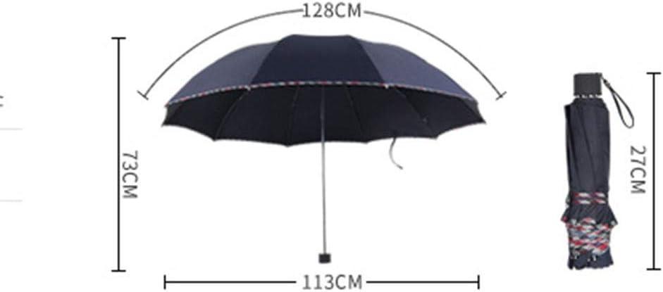 Oversized Umbrella Folding Rain and Rain Umbrella Sun Protection UV Umbrella Parasol Umbrella Men and Women Color : E