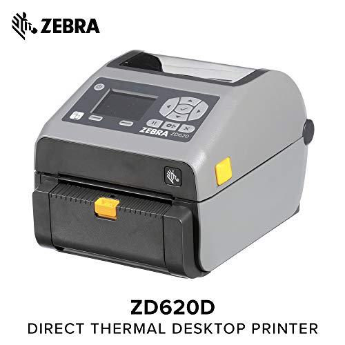 Zebra - ZD620d Direct Thermal Desktop Printer for Labels and Barcodes - Print Width 4 in - 203 dpi - Interface: Ethernet, Serial, USB - Peeler Preinstalled - ZD62042-D11F00EZ