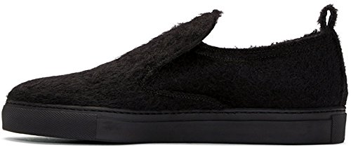 ANN DEMEULEMEESTER Harrison Leather-Lined Mohair Slip-On Shoes