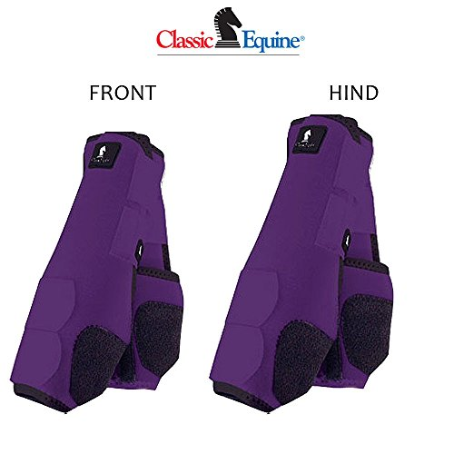 - M- 4 PACK PURPLE CLASSIC EQUINE LEGACY SYSTEM HORSE FRONT REAR HIND SPORT BOOT