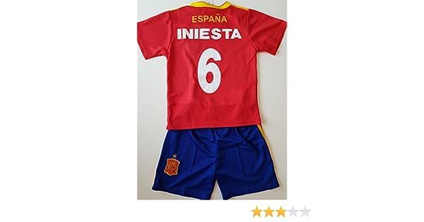 Générique Camiseta de fútbol España Iniesta NO6 14 años 2018: Amazon.es: Deportes y aire libre