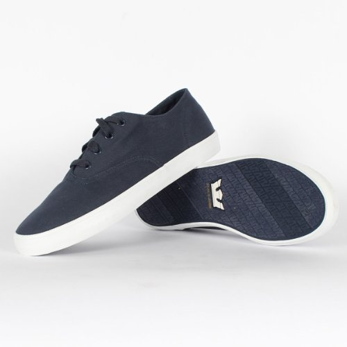 Supra Wrap Heren Blauw Canvas Veterschoenen Sneakers 11.5