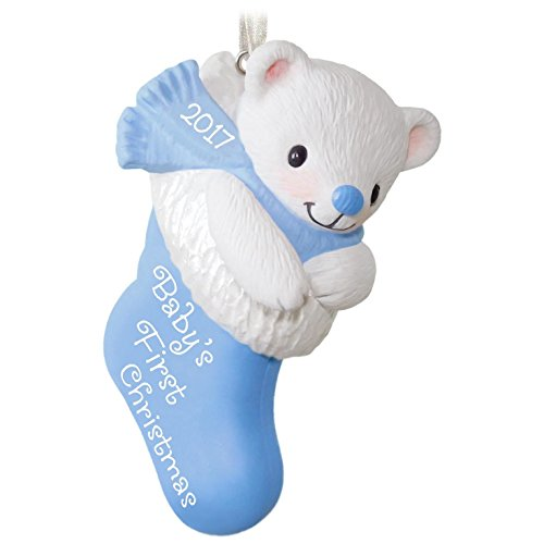Baby Boy's First Christmas Ornament (Baby Hallmark Ornament)