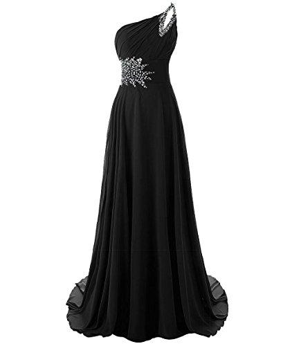 Shoulder Beaded Waist Gown - 3