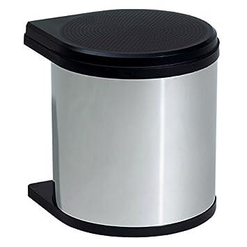 Einbaumülleimer rund Mülleimer 12 L Einbaueimer Schrank Abfalleimer Edelstahl