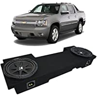 2002-2013 Chevy Avalanche Underseat Kicker Comp C12 Dual 12 Sub Box Enclosure New - Final 2 Ohm