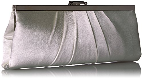 Blaire Satin Framed Clutch Evening Bag, Ivory, One Size by Jessica McClintock (Image #2)