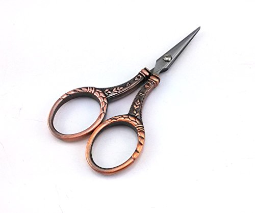 (yueton Vintage Pen Nib Cutter Leaves Needlework Embroidery Scissors (Copper))