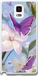 Note 4 Case, Dseason Samsung Galaxy Note 4 Hard Case **NEW** Case For Samsung (2015) Verizon Butterfly and blossom