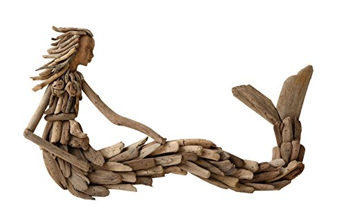 Driftwood Sitting Mermaid Wall Decoration