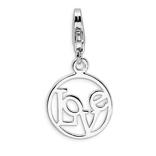 925 Sterling Silver Love In Circle Lobster Clasp Pendant Charm Necklace S/love Message Fine Jewelry Gifts For Women For Her