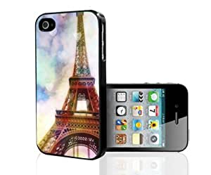 Super Colorful Paris Eiffel Tower Hard Snap on Phone Case (iPhone 4S)