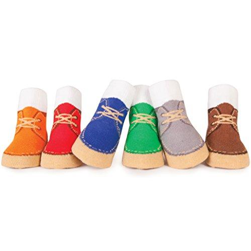 Trumpette Boys Johnny Joe High Top Desert Baby Boot Socks (6 Pack), 0-12 Months, Green, Orange, Red, Blue, Grey and Brown