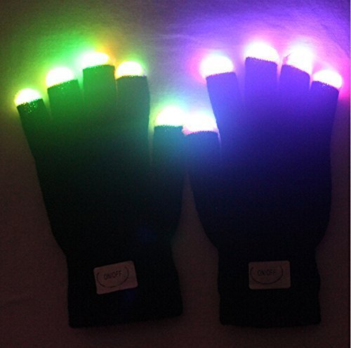 Flashing Finger Lighting Gloves LED Colorful Rave Gloves