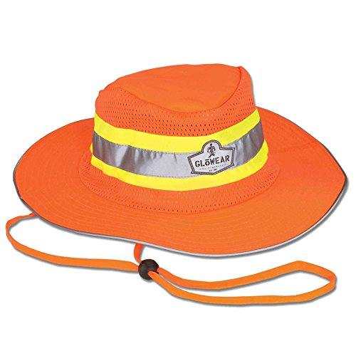 Ergodyne GloWear 8935 High-Visibility Ranger Hat, XX-Large/3X-Large, Orange