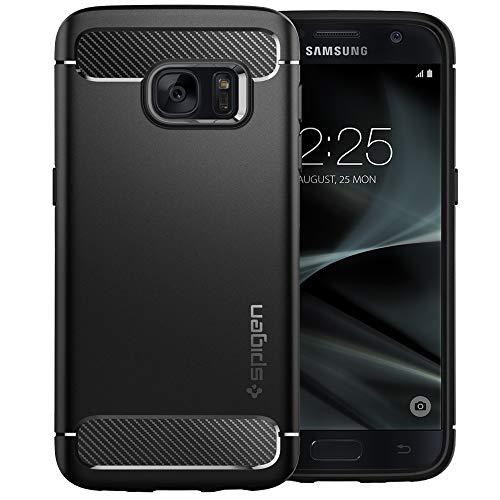 (Spigen Rugged Armor Designed for Samsung Galaxy S7 Case (2016) - Black)