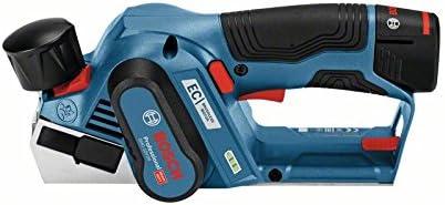Bosch Professional GHO 12V-20 - Cepillo a batería (2 baterías x 3.0 Ah, 12V, rebaje 17 mm, en L-BOXX)