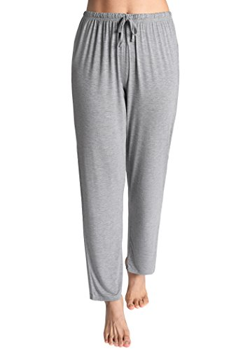 Latuza Women's Knit Loungewear Pajama Pants 3X Light Gray