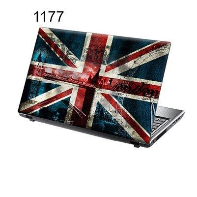 TaylorHe Folie Sticker Skin Vinyl Aufkleber mit bunten Mustern für 15 Zoll 15,6 Zoll (38cm x 25,5cm) Laptop Skin Union Jack, London
