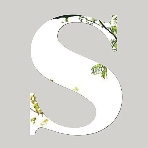 icker, 26 Letters DIY Art Mural Home Decor Acrylic Silver Decals (S,Free Size) ()