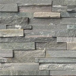 Sierra Blue Slate Ledger Wall Panel 6 in. x 24 in. Natural Stone Tile - FULL PIECE - 24 Tile Slate