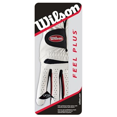 WILSON FEEL PLUS ALL WEATHER MEN'S GOLF GLOVE. MEDIUM LARGE   B00BFDE0SY
