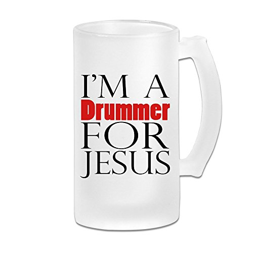 Price comparison product image DonSir Drummer For Jesus Personalized Custom Glass Beer Stein Super Mug
