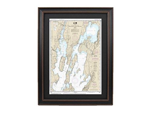 PatriotGearCompany | Framed Nautical Chart 14781 : Lake Champlain, Riviere Richelieu to South Hero Island - Standard ()