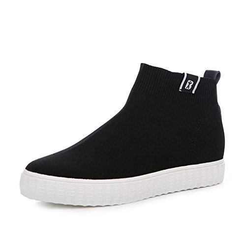 Zapatos Elásticos De Las Señoras Calcetines?botines?aumento De Zapatos Casuales A
