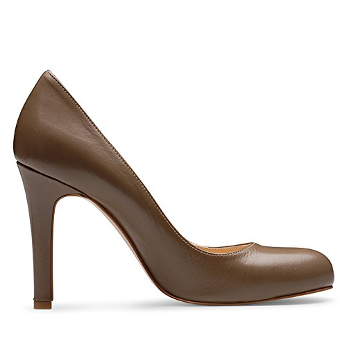Evita Shoes Cristina Damen Pumps Glattleder Fango
