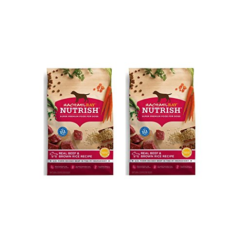 Rachael Ray Nutrish Natural Dry Dog Food, Real Beef and Brown Rice Recipe, 28 lbs - 2 Pack