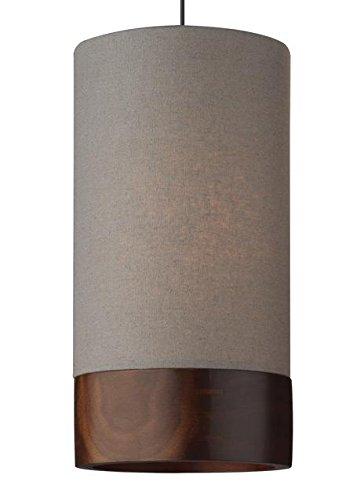 Topo 1 Light FreeJack Pendant Finish: Satin Nickel, Color: Gray Walnut, Bulb Type: 1 x 6W LED