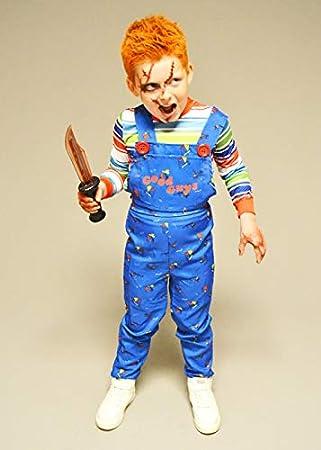 Struts Disfraz de Chucky para niños tamaño Infantil Large (10-12 ...