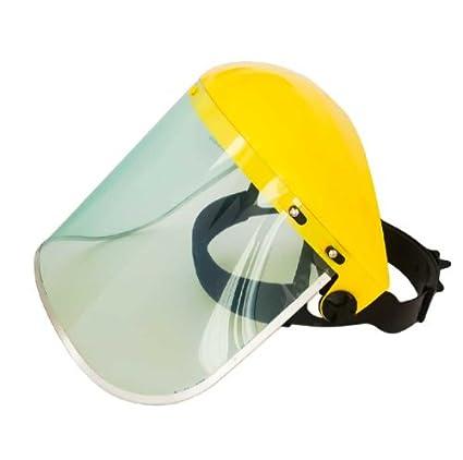 Máscara de Protección Transparente con Borde de Aluminio