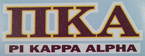 amazoncom pi kappa alpha pike color lettername car computer sticker kitchen dining