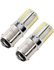 Ba15d 1142 Led Bulb 12V White 1004 1076 1176 1130 Low Voltage 6W 6000K, PYRJIN Equivalent 40W, Bayonet Double Contact Base, Silicone Material Waterproof Bulb For Marine, Rv Interior, Camper. 2-Pack