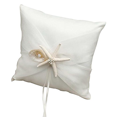 Ring Pillow Satin Beach Theme /Fairytale Theme / Butterfly ThemeWithRibbons / Bow / Faux Pearl