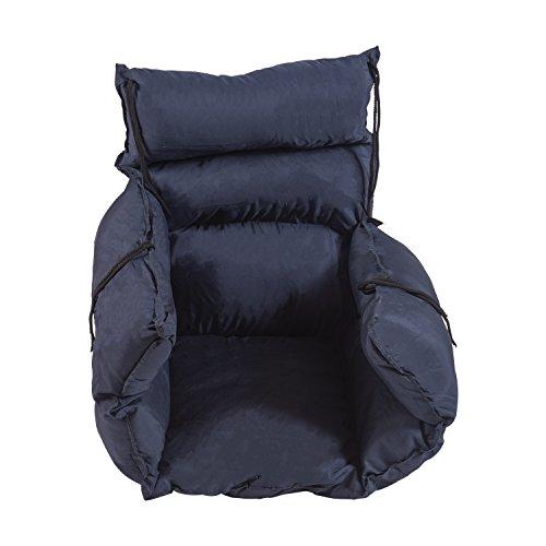 DMI Comfort Wheelchair Cushion, Wheelchair Seat Cushion, Wheelchair Pillow, Recliner or Chair Cushion, Navy