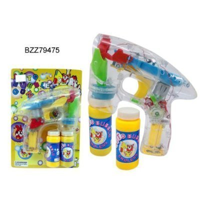 LED Bubble Gun - Funny Play Set - Battery Operated - Background Design may vary: Toys & Games