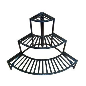 Pangaea Folding Iron Garden - Pangaea Home and Garden Folding Corner Three Layer Iron Plant Stand