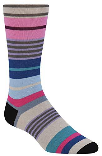 Bugatchi Men's LB7008 Fashion Mercerized Sock ONE Chalk