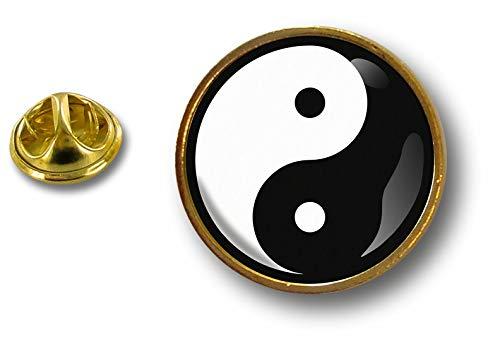 Peace Shui and metal Pin Feng Badge Botones Pin Akacha Loveying Yang de Yin 1OzRwaWxvq