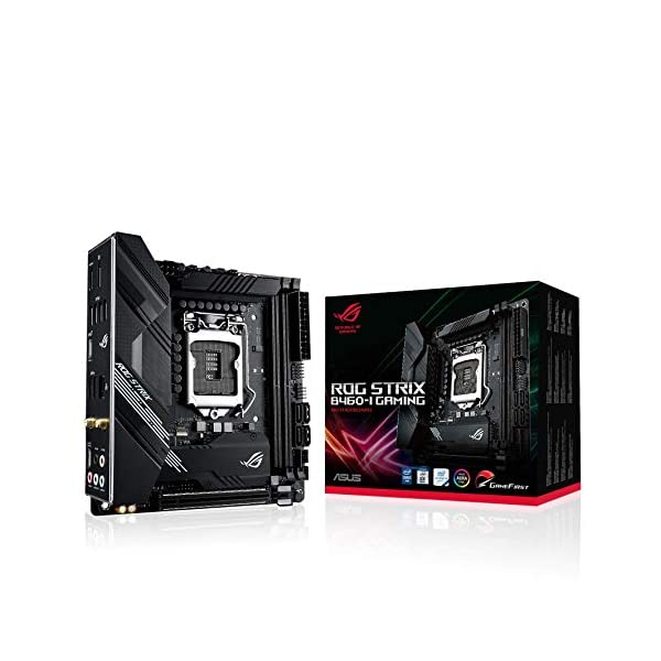 ASUS ROG Strix B460-I Gaming (WiFi 6) B460 LGA 1200 (Intel® 10th Gen) mini- ITX SFF gaming motherboard ( Intel® 1Gb LAN…
