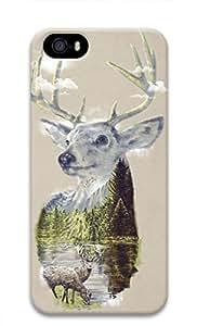 Custom Deer Home Custome 3D Hard Plastic Phone Case For iPhone 5