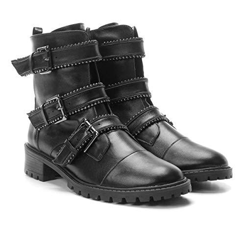 d13213dc8 Bota Coturno Shoestock Couro Fivelas Feminina - Preto - 38: Amazon.com.br:  Amazon Moda
